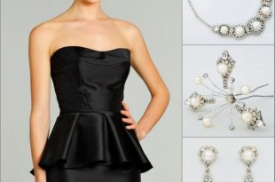 Pearl Jewelry | Red cocktail dress, Black evening dresses, Fashi