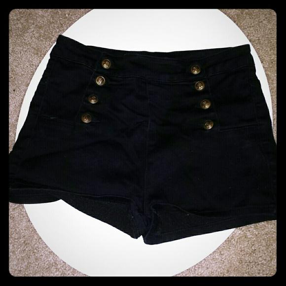 Cello Jeans Shorts | Black High Waisted | Poshma