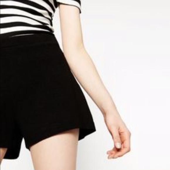 Zara Shorts | Basic Black High Waisted | Poshma