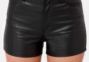 Tripp NYC High Waist Black Vegan Leather Shorts | Leather shorts .