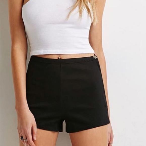 Forever 21 Shorts | 320 Black High Waisted | Poshma