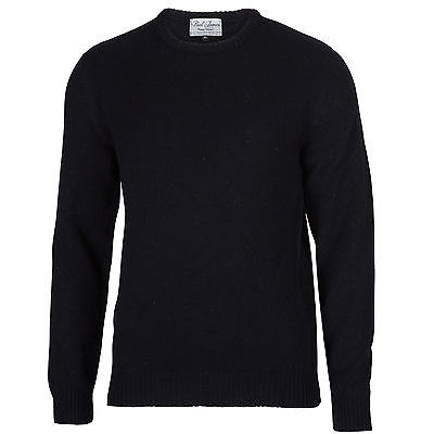 Archer - 100% Pure Lambswool - Men's Black Jumper Sweater   eB