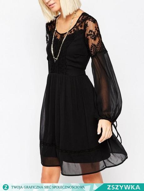 dress, black dress, boho dress, lace dress, lace, gothic dress .