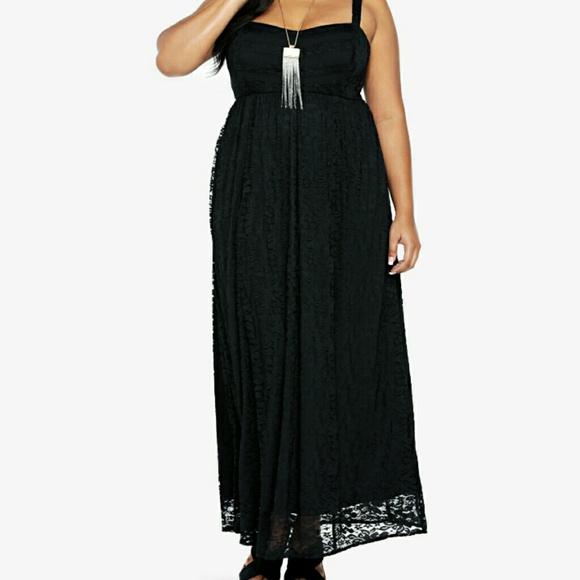 torrid Dresses | Black Lace Maxi Dress | Poshma