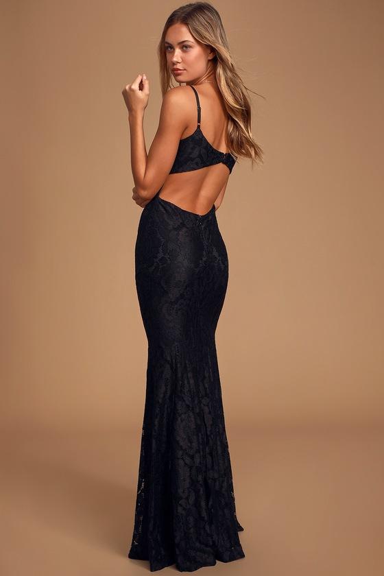 Gorgeous Floral Lace Dress - Mermaid Maxi Dress - Lace Maxi Dre