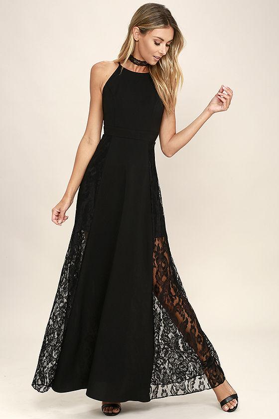 Lovely Black Maxi Dress - Lace Maxi Dress - Black Lace Dress - $79.