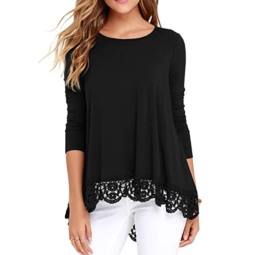 Black Lace Tops: Amazon.c