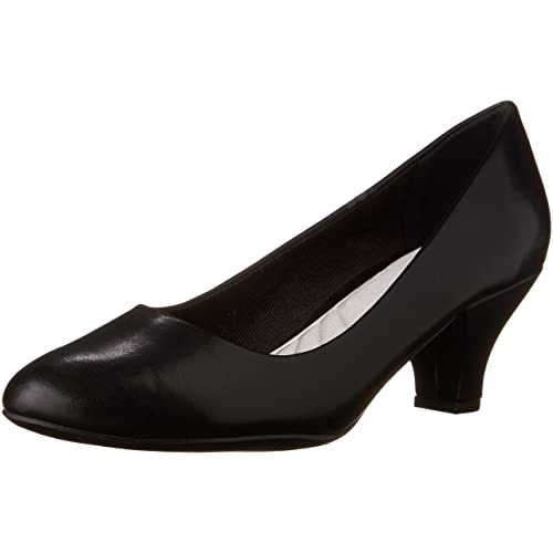 Women's Black Low Heel Pumps: Amazon.c