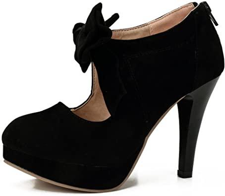 Amazon.com | Women's Platform High Heels Pumps Shoes with Bowknot .