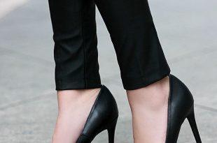 Pretty Black Pumps - Pointed Pumps - Black Heels - $34.