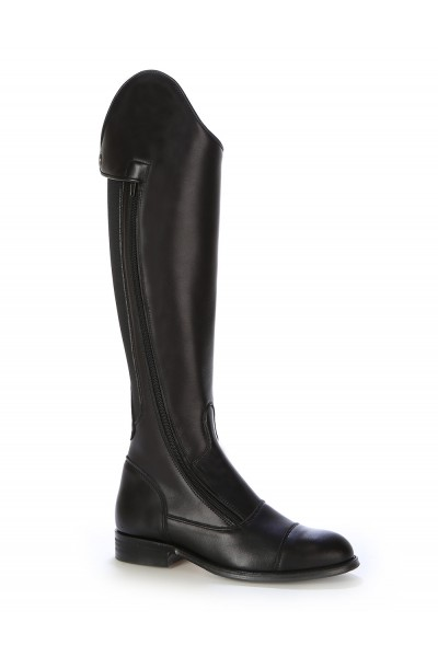Black leather dressage boot for horse riding Black leather horse .