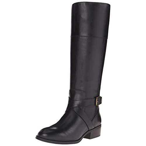 Women's Black Riding Boot: Amazon.c