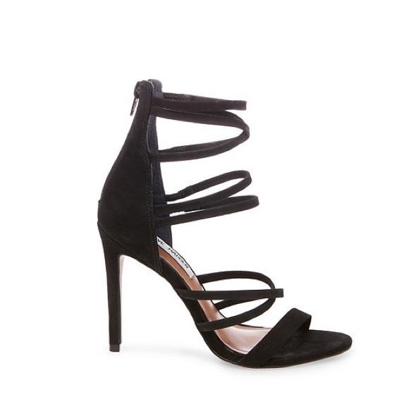 Steve Madden Shoes | Tierney Black Strappy Heels Size 6 | Poshma