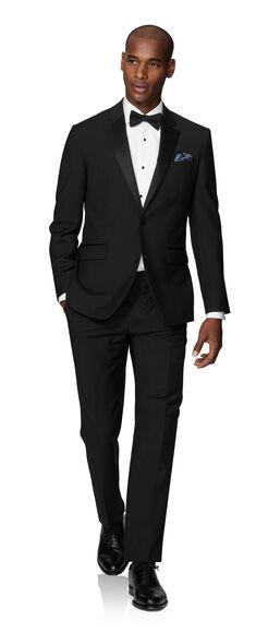 Lancewood Black 2-Button Slim Fit Dinner Suit | T.M.Lew