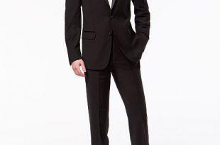 Calvin Klein Men's X-Fit Infinite Stretch Black Tuxedo Suit .