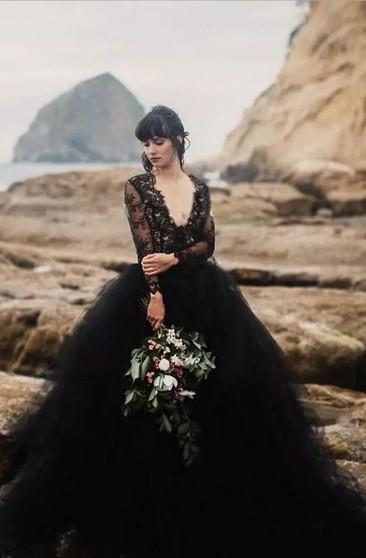 Black Wedding Dresses, Black Bridal Gowns | Dressaffo