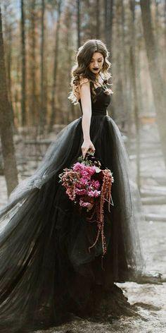 256 Best Gothic wedding dresses images | Gothic wedding, Wedding .