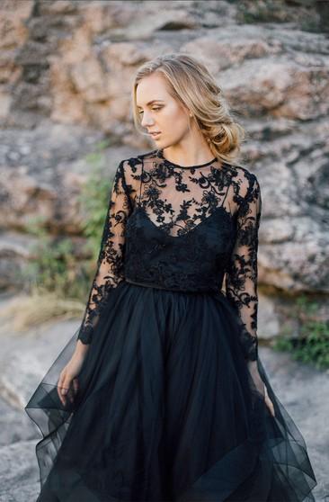 Black Bridal Dresses | Colored Wedding Gown - Dorris Weddi