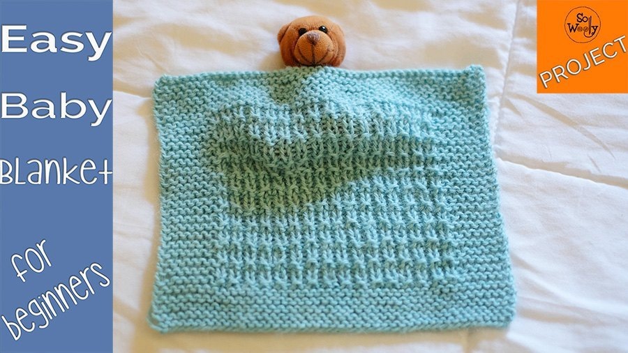 Easy knitting Baby Blanket pattern (0-12 months of age)