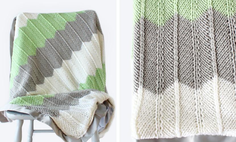 Rameez Blanket: Free Baby Blanket Knitting Pattern