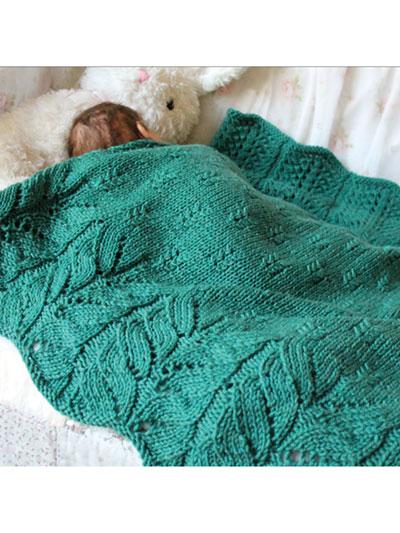 Bee Tree Blanket Knit Patte