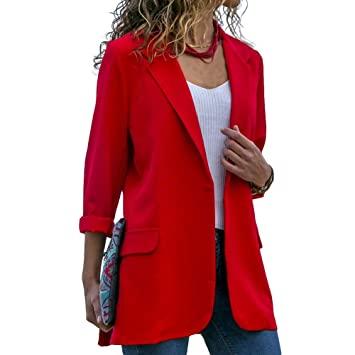 Amazon.com: gLoaSublim Blazer for Women,Fashion Solid Color Slim .