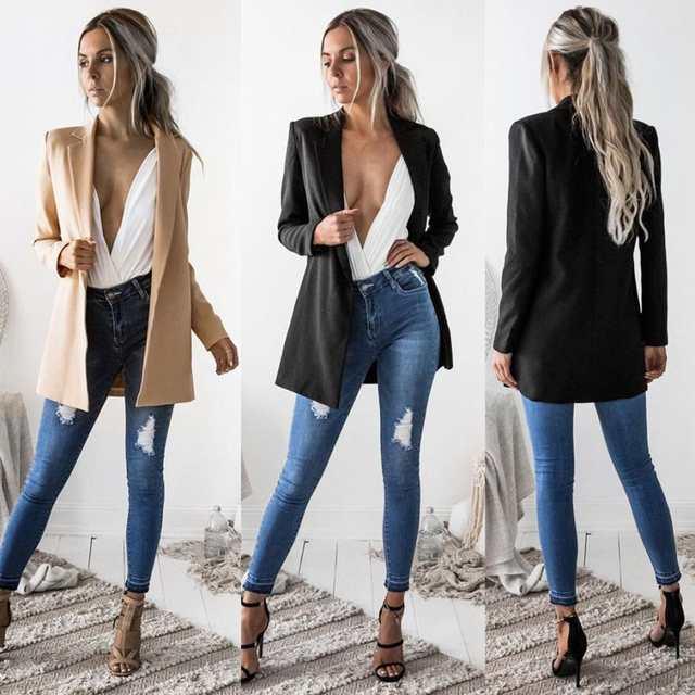 KANCOOLD coats Blazers Ladies Long Sleeve Cardigan Casual Blazer .