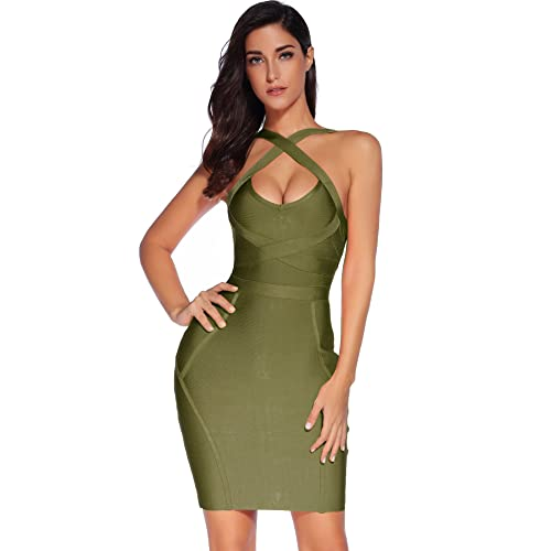 Olive Green Bodycon Dress: Amazon.c