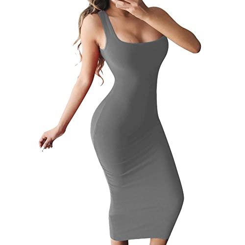 Sleeveless Grey Bodycon Dress: Amazon.c