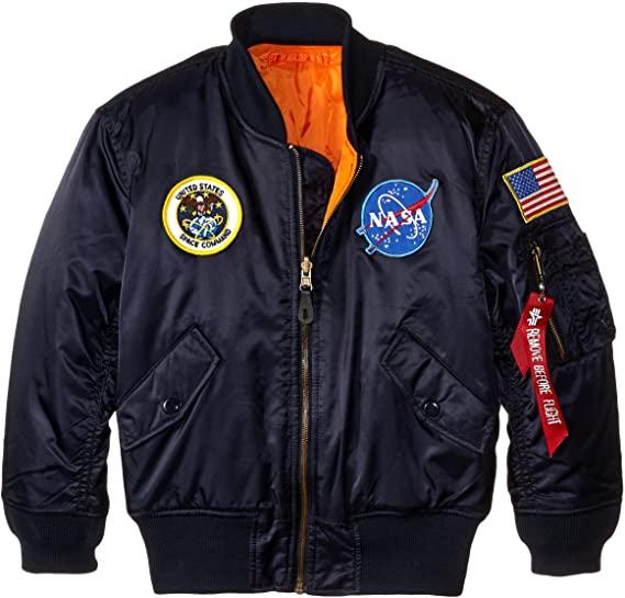 Amazon.com: Alpha Industries Big Boys' Nasa MA-1 Bomber Jacket .