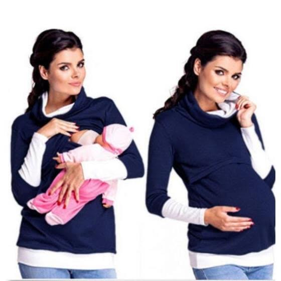 Shop USA Maternity Clothes Breastfeeding Tops Hoodies Nursing Tops .