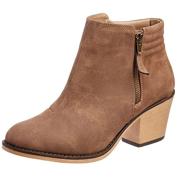 Saunter Ankle Boots Brown Target Australia ($36) ❤ liked on .