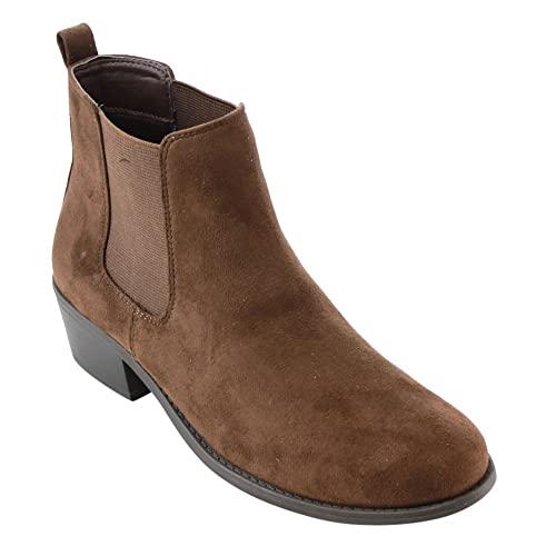 Amazon.com | Refresh Women's Tildon-03 Low Heel Slip On Solid .