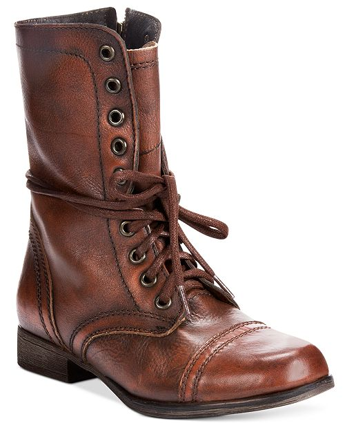 Steve Madden Women's Troopa Combat Leather Boots & Reviews - Boots .