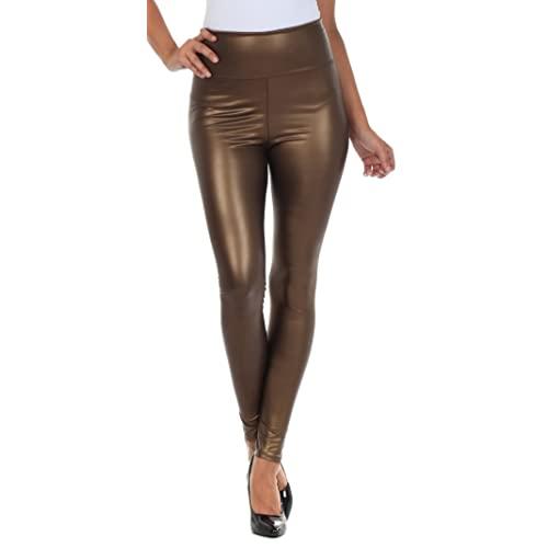 Brown Leather Leggings: Amazon.c
