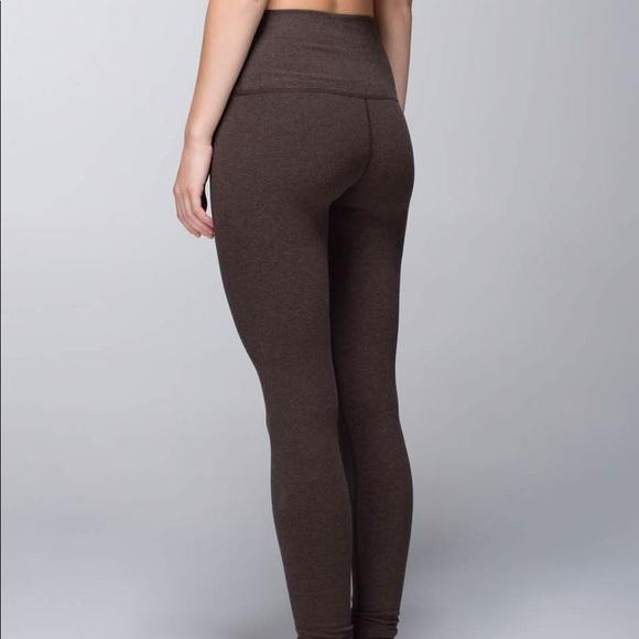 lululemon athletica Pants | Lululemon Wunder Under Heathered Brown .
