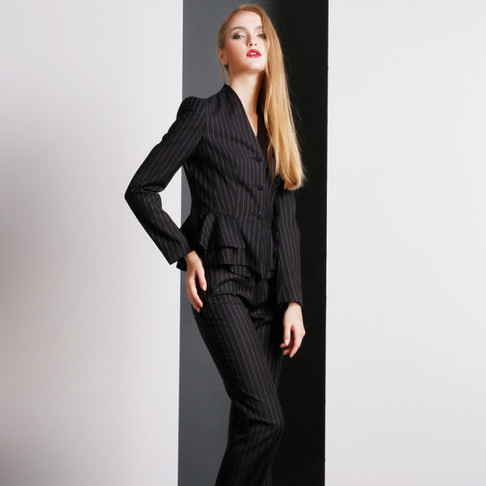 China latest Dark Grey T/R Business Suit for Women Pant - China .