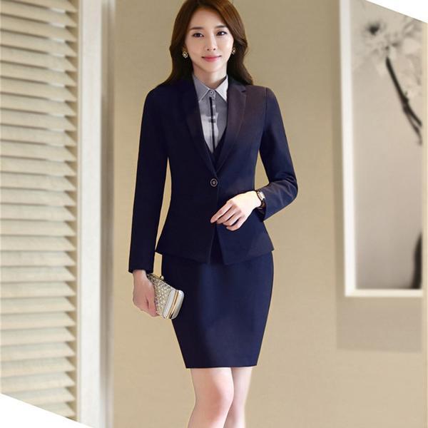 Skirt suit woman business suits office uniform designs women elegant