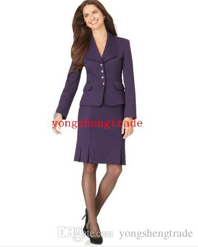 Hot Selling Purple Women Business Suit Custom Made Lady Suit .