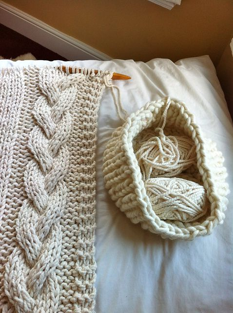 Cable Knit Blanket pattern by Knitting Revolution   Cable knit .