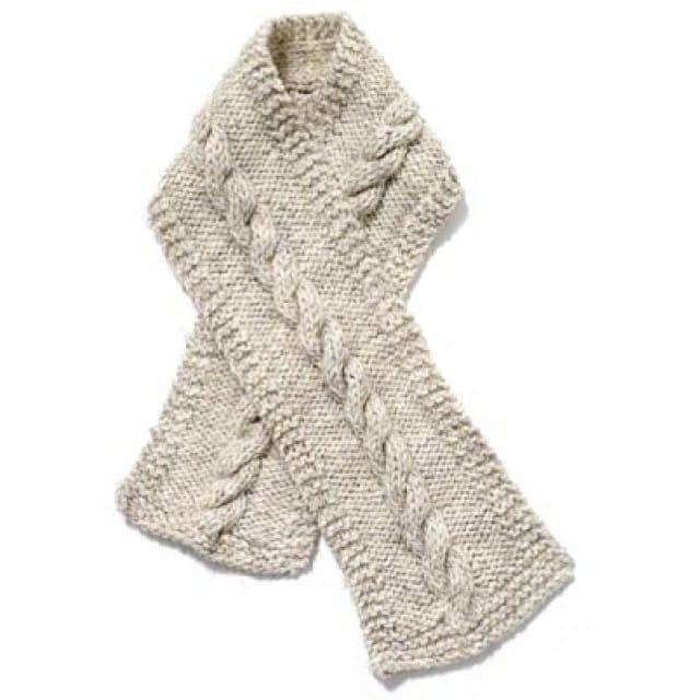 Cable Scarf Pattern (Knit) - Lion Brand Ya