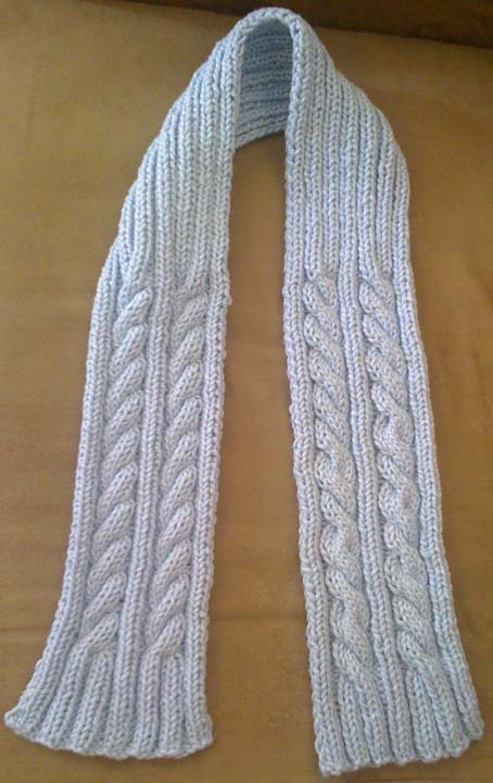 Knitting Projects: Maya Double Cable Knit Sca
