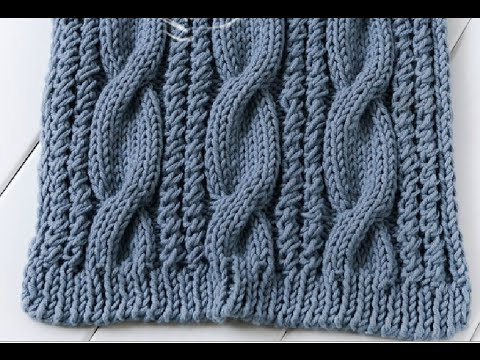 How to knit a cable scarf - YouTu