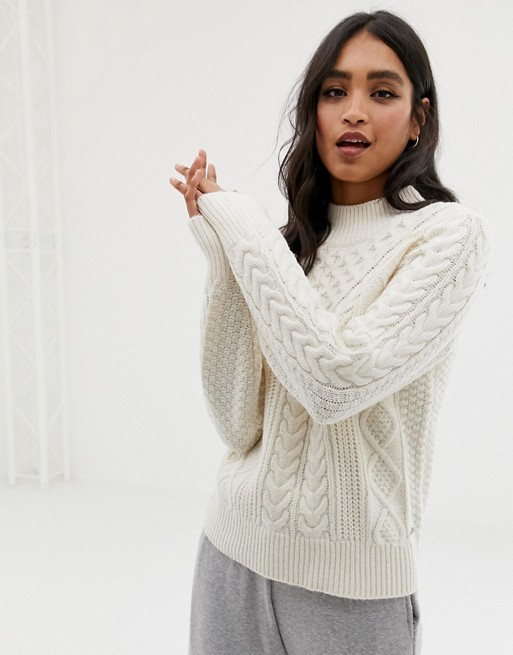 Abercrombie & Fitch high neck cable knit sweater | AS