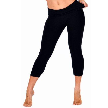 Stretch Is Comfort - Teamwear Foldover Trailblazer Capri Leggings .