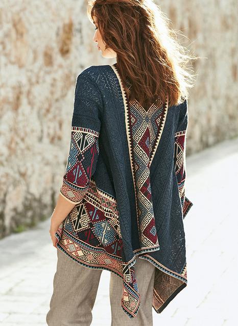 Pima Cotton Caravan Cardigans, Women's Elegant Sweaters, Cotton .