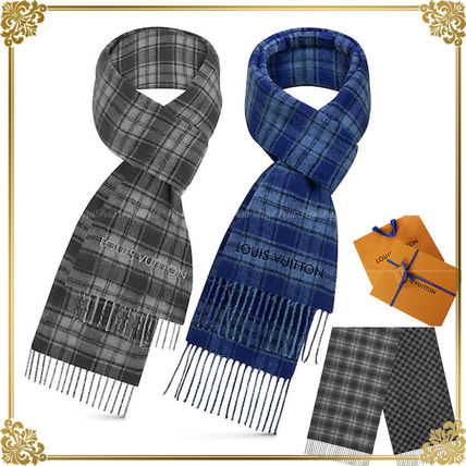 Shop Louis Vuitton Tartan Other Plaid Patterns Cashmere Scarves by .