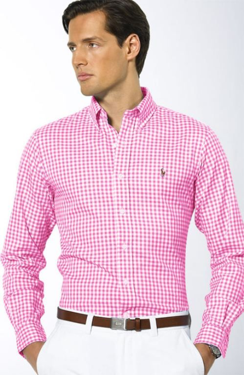 real men wear pink. Go back far enough, and pink was for boys and .