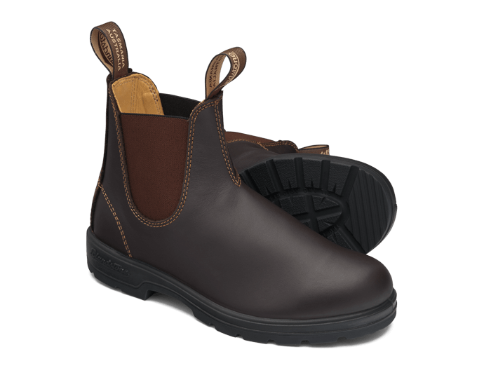 Walnut Brown Premium Leather Chelsea Boots, Women's Style 550 .