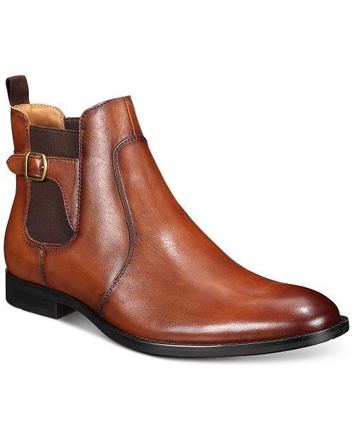 Alfani Men's Ramon Leather Chelsea Boots, Created for Macy's .